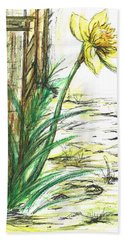 Blooming Daffodil Beach Towel