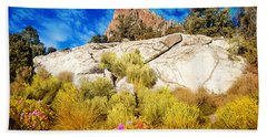Blooming Nevada Desert Near Ely Beach Towel