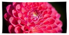 Blooming Red Flower Beach Sheet