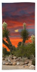 Full Blooming Yucca Beach Towel by Jack Pumphrey