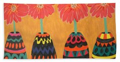 Blooms In Native Dress Beach Towel
