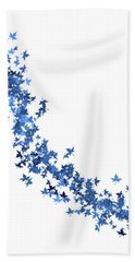 Blowing Winter Leaves Beach Towel