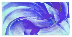 Beach Sheet featuring the digital art Blue Agave Swirl by Stephanie Grant