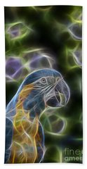 Blue And Gold Macaw  Beach Towel by Douglas Barnard