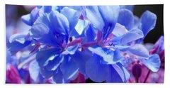 Blue And Purple Flowers Beach Sheet by Matt Harang