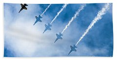 Blue Angels Beach Towel by Kate Brown