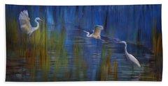 Beach Towel featuring the photograph Blue Bayou II by Melinda Hughes-Berland