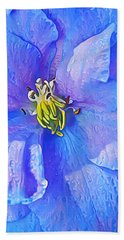 Blue Beauty Beach Towel by ABeautifulSky Photography