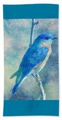 Blue Bird Blue Sky Beach Towel