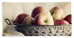 Blue Bowl Of Apples Beach Towel