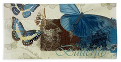 Blue Butterfly - J152164152-01 Beach Towel