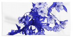 Beach Towel featuring the photograph Blue Cherry by Jane McIlroy