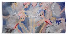 Blue Clouds The Ballet Beach Towel by Judith Desrosiers