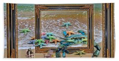 Blue Crab Stars Beach Towel