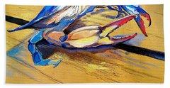 Blue Crabbie  Beach Towel