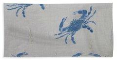 Blue Crabs On Sand Beach Towel