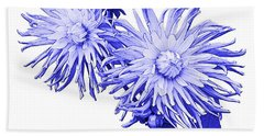 Beach Towel featuring the photograph Blue Dahlia by Jane McIlroy