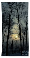 Blue Daybreak Beach Towel