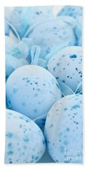 Blue Easter Eggs Beach Towel