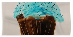 Blue Flame  Blue Jimmies Beach Towel by John Williams