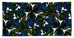 Beach Towel featuring the digital art Blue Flowers by Elizabeth McTaggart