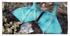 Blue-footed Booby Feet Beach Towel by Ron Sanford