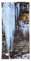 Blue Frozen Icicle Stalactites Beach Sheet