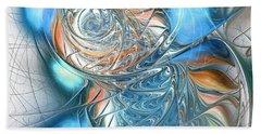 Blue Glass Fish Beach Towel