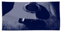 Blue Guitar Beach Towel
