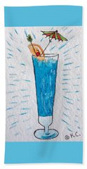 Blue Hawaiian Cocktail Beach Sheet by Kathy Marrs Chandler