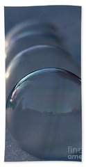 Blue Hour Frozen Bubbles Beach Sheet by Kenny Glotfelty