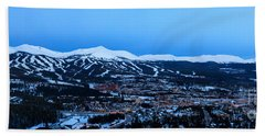 Blue Hour In Breckenridge Beach Towel by Ronda Kimbrow