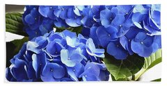 Beach Sheet featuring the photograph Blue Hydrangea by Lehua Pekelo-Stearns