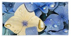 Blue Hydrangeas Beach Towel