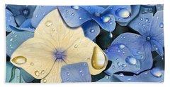 Blue Hydrangeas Beach Sheet