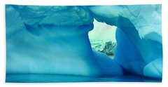 Blue Iceberg Antarctica Beach Sheet