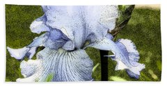 Blue Iris Beach Towel