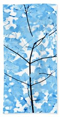 Blue Leaves Melody Beach Towel