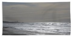 Blue Lighthouse View Beach Sheet by Susan Garren