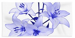 Beach Towel featuring the photograph Blue Lily by Jane McIlroy