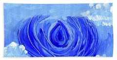 Blue Lotus In The Sky Beach Towel