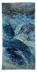 Blue Maze 1 Beach Towel