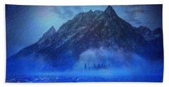Blue Mist Rising Beach Towel