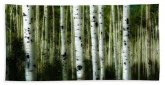 Beach Sheet featuring the photograph Blue Mood Aspens I by Lanita Williams
