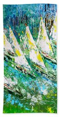 Blue Moon Chicago - Sold Beach Towel by George Riney