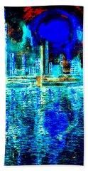 Blue Moon In A Midnight Sky Beach Towel