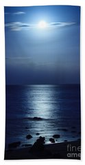 Blue Moon Rising Beach Towel
