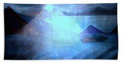 Blue Moon Sailing Beach Towel