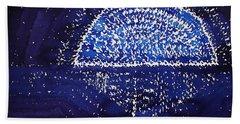 Blue Moonrise Original Painting Beach Towel
