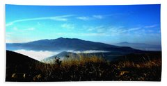 Blue Mountain Landscape Umbria Italy Beach Sheet